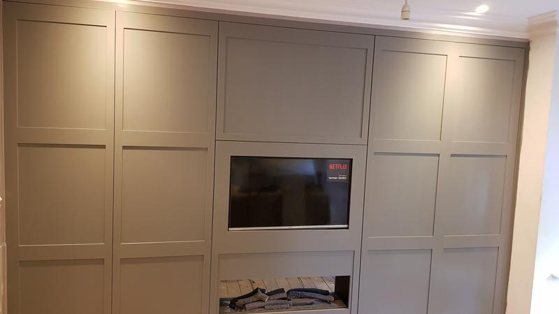 Image 91 - MDF Wardrobe painted in satin finish