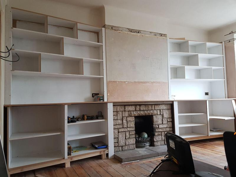 Image 33 - Fireplace conversion with bespoke cupboards (work in progress)