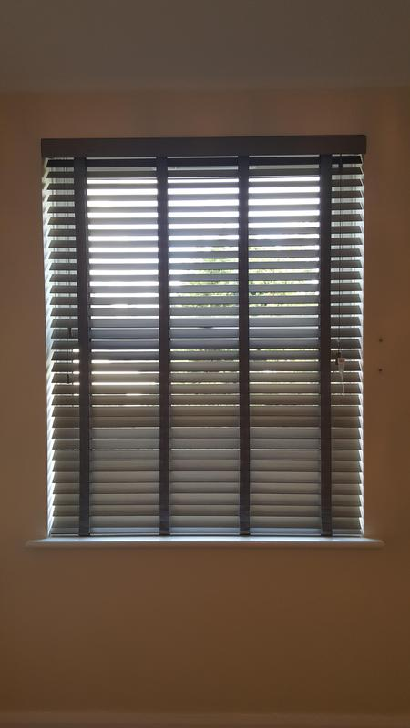 Image 32 - Faux Wood Venetians with matching tapes.