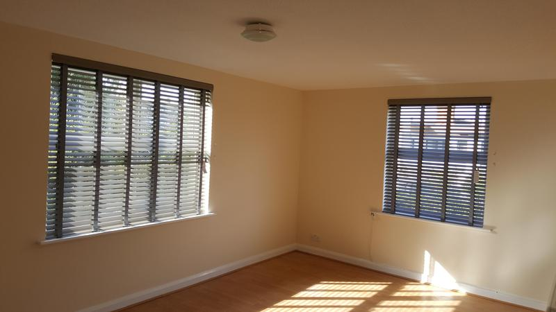Image 34 - Faux Wood Venetians with matching tapes.