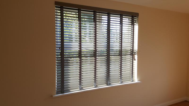 Image 35 - Faux Wood Venetians with matching tapes.