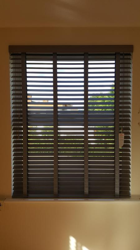 Image 36 - Faux Wood Venetians with matching tapes.