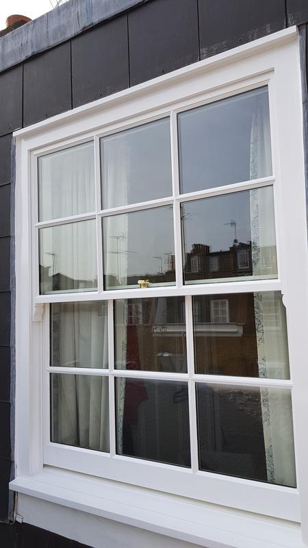 Image 68 - Sash window after it's been painted