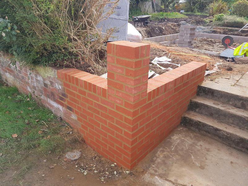 Image 3 - Garden wall rebuilt