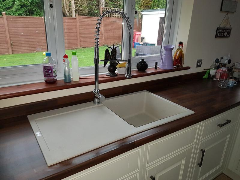 Image 4 - New granite composite sink and pull out mixer tap.