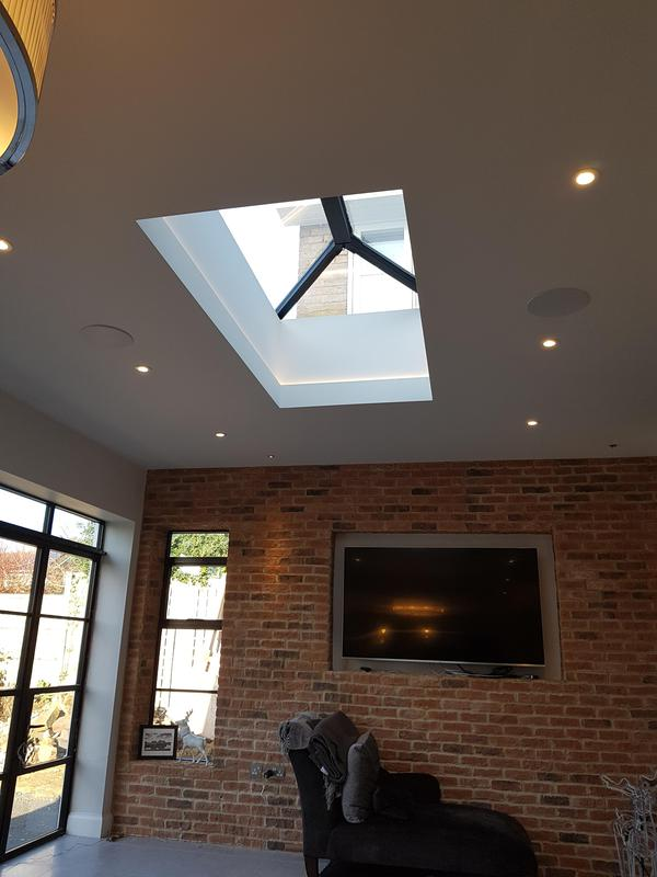 Image 12 - Roof lantern, crittle style doors and brick slip wall creates this stylish living space