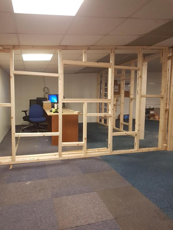 Image 4 - Building of partition wall for an office
