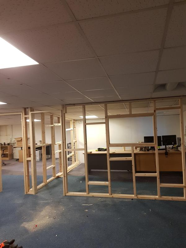 Image 5 - Building of partition wall for an office