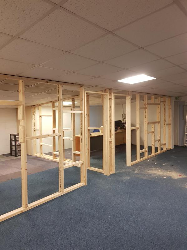 Image 6 - Building of partition wall for an office