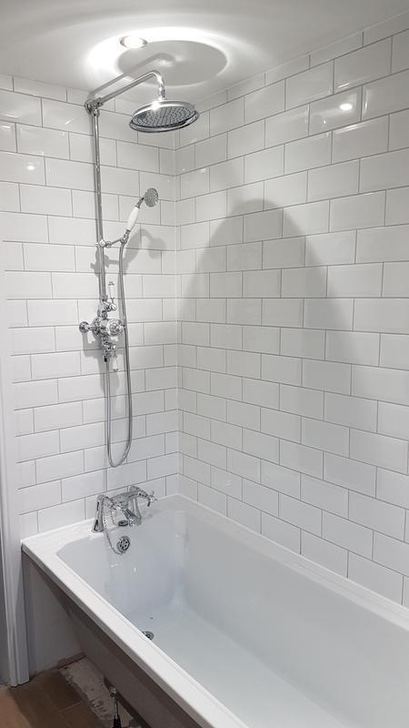 Image 11 - Bathroom tiling around shower and bath AFTER