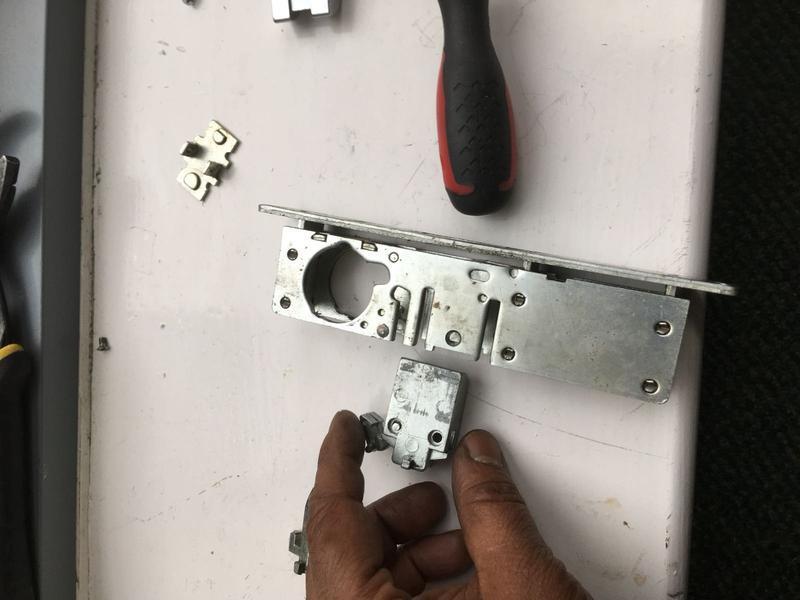 Image 37 - Lock change - making safe