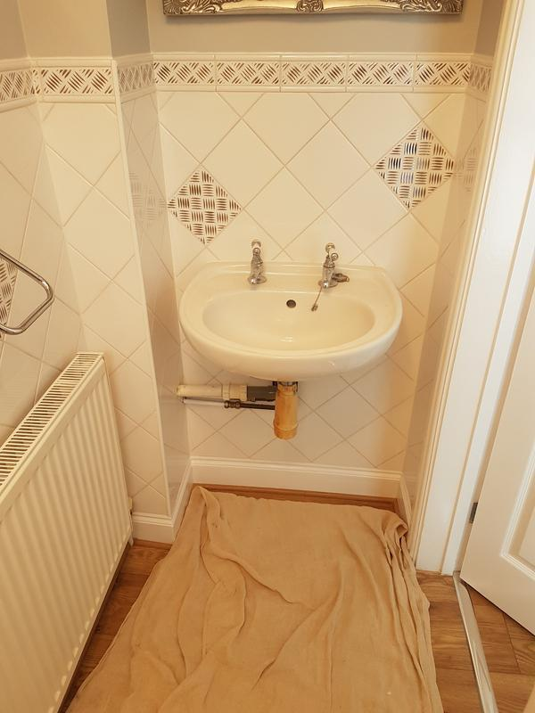 Image 15 - (Before) Cloakroom update with new basin and toilet.