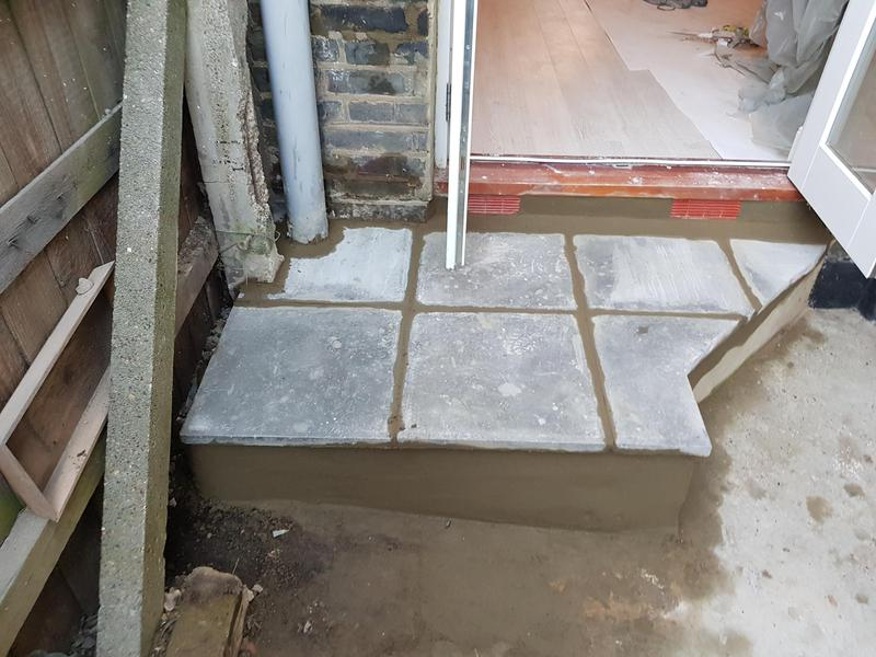 Image 21 - new step and air brick built from nothing
