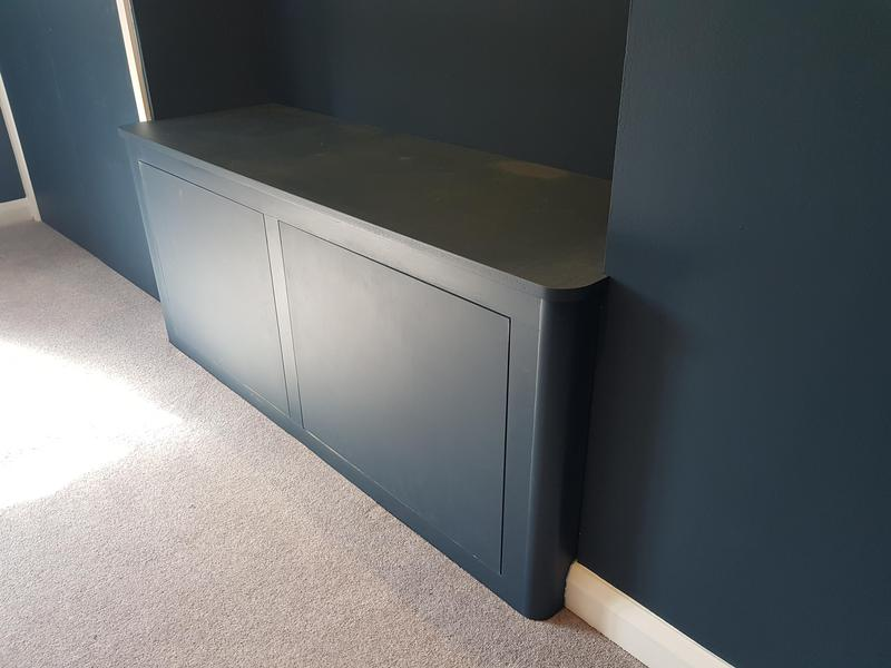 Image 40 - Reading bench with cupboards underneath