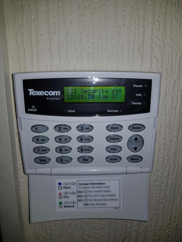 Image 2 - Texecom intruder alarm installation