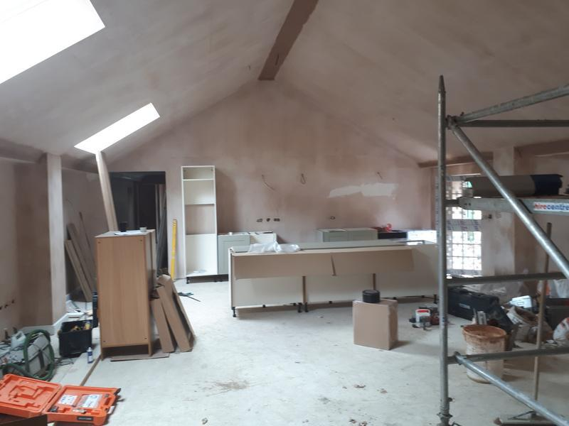 Image 3 - Drylining and skimmed