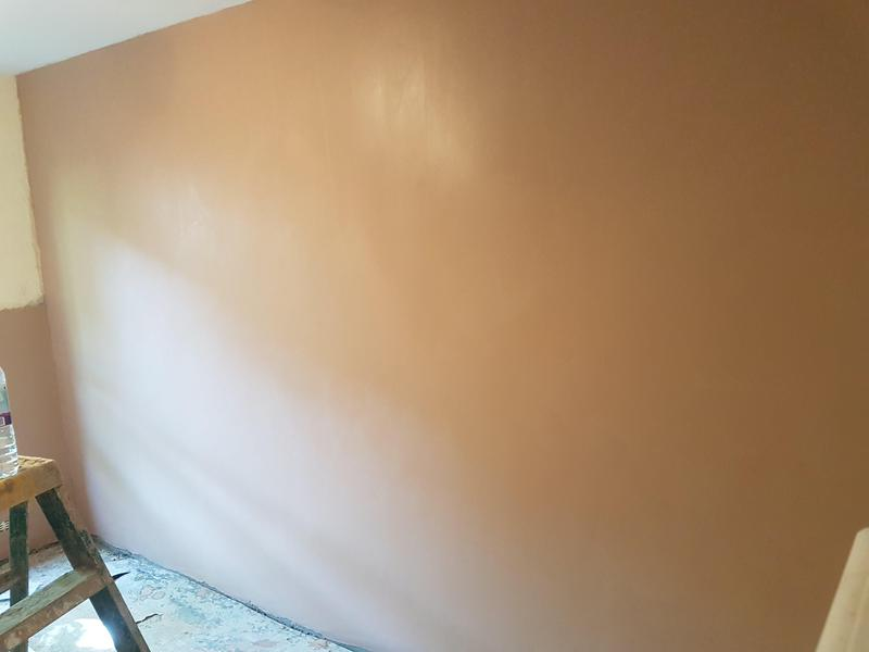 Image 44 - Walls treated for damp. Ready for painting.