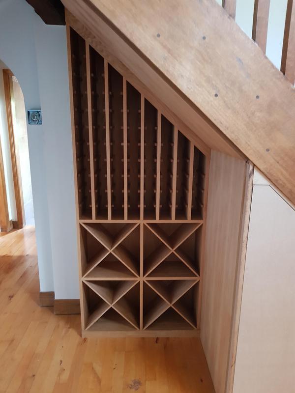 Image 33 - Oak wine rack