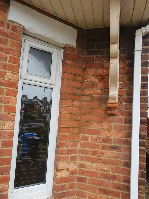 Image 31 - Brickwork rebuild to corner right window