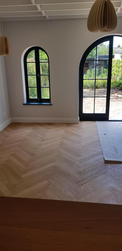 Image 34 - New herringbone flooring in extension