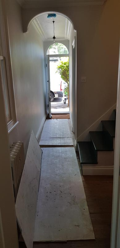 Image 37 - Hallway decoration and sanded flooring