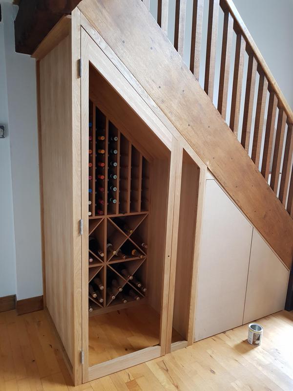 Image 34 - Oak wine rack