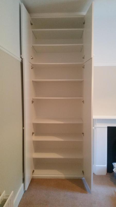 Image 51 - Double wardrobes with adjustable sheliving built into alcoves. Hand made and hand painted