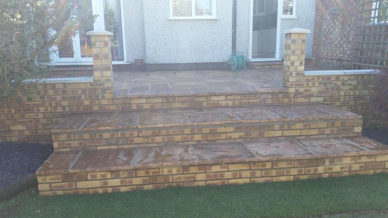Image 9 - Patio and steps finished in welling