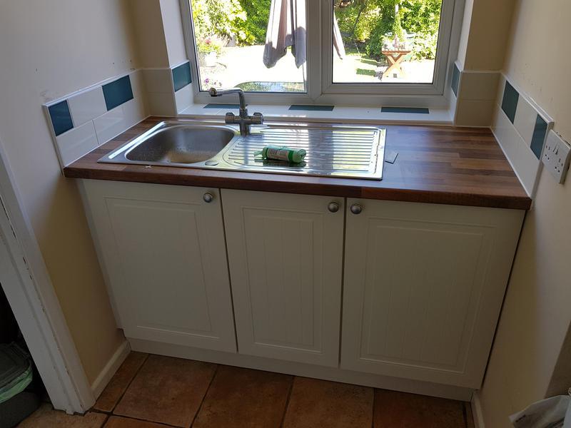 Image 19 - Replace doors worktop sink and tile
