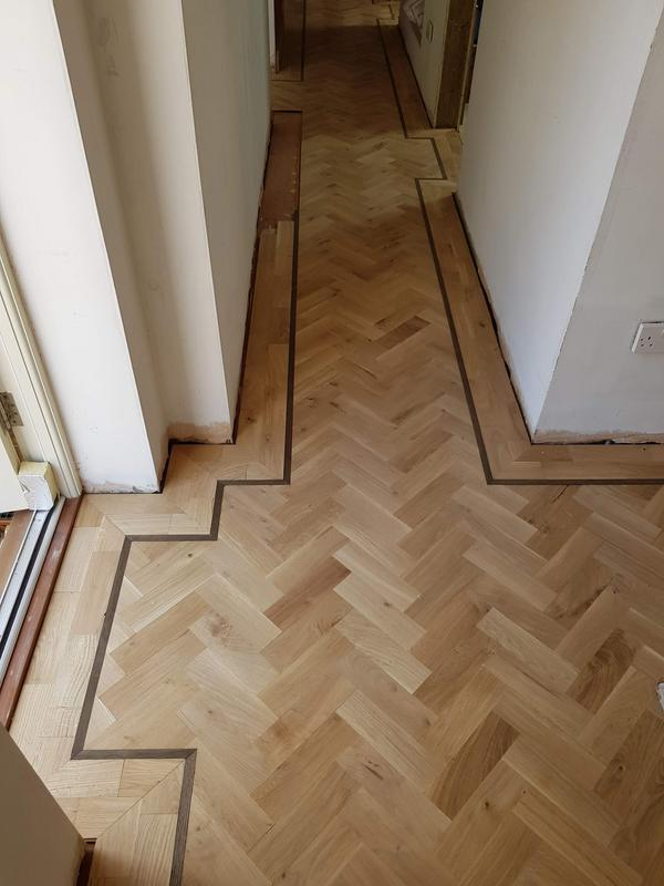Image 94 - Herringbone parquet with borders