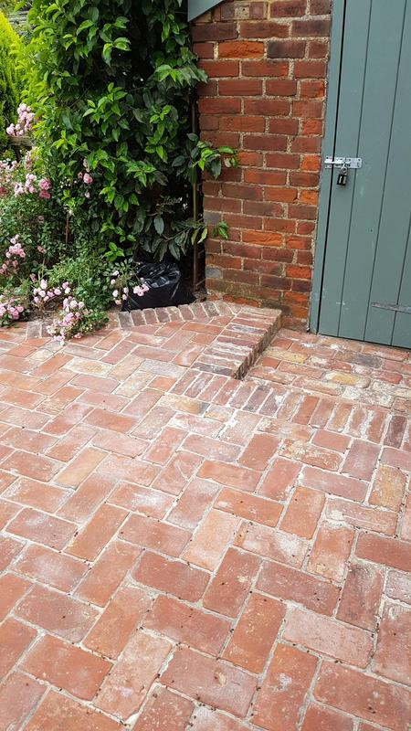 Image 19 - Reclaimed red Wirecut bricks, laid in Herringbone