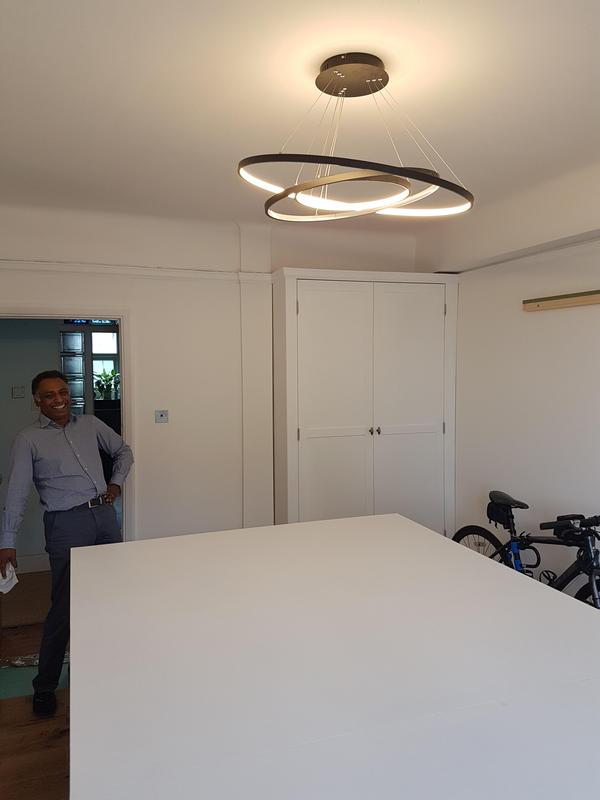 Image 37 - Custom table and light fitting