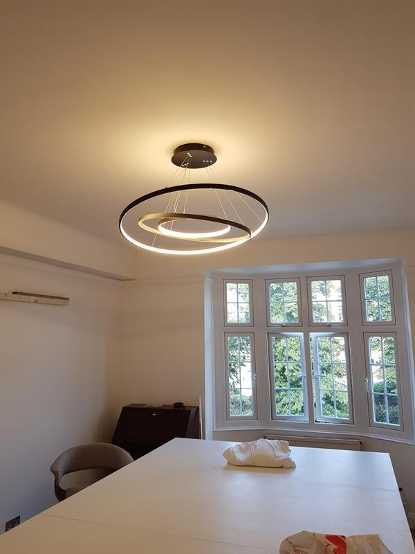 Image 21 - Bespoke table with light fitting