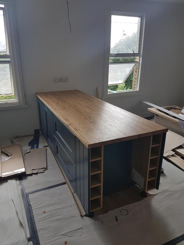 Image 27 - Bespoke kitchen island with oak worktop