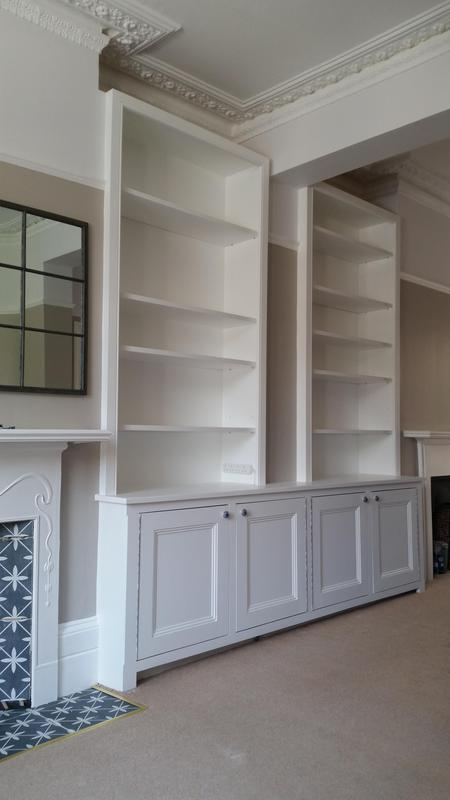 Image 46 - Front room unit with adjustable shelving and built in lighting. Hand made and hand painted