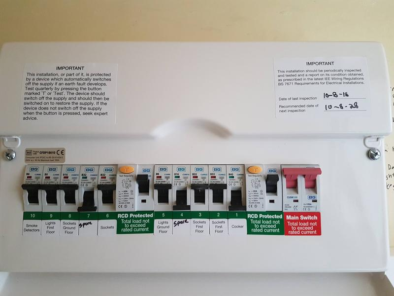 Image 3 - New consumer unit on a house rewire. https://youtu.be/pWCgntJ6QCM