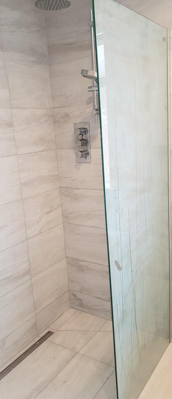 Image 13 - Linear drains can be either along the width of the shower or the length of the shower
