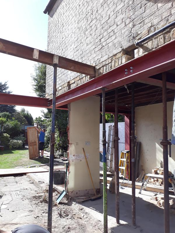 Image 23 - View of steelwork installed to support remaining section of property.