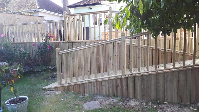 Image 6 - Decking with ramp