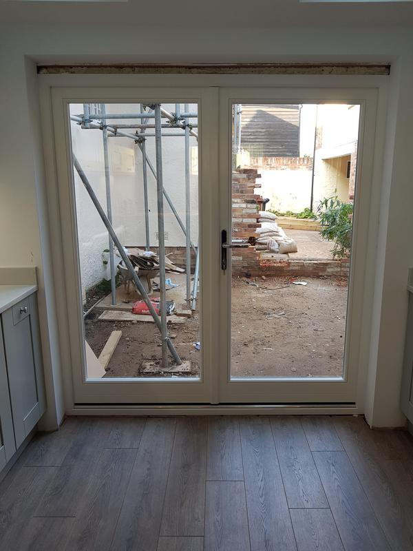 Image 70 - CM23 2NG -                INSTALLATION OF NEW TIMBER FRAME FRENCH DOORS TO REAR PATIO