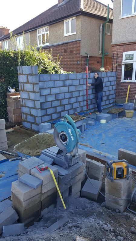Image 3 - Internal blockwork on single storey extension