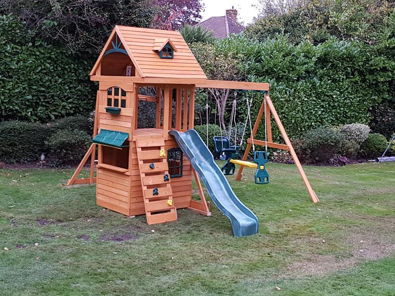 Image 93 - Children's playhouse installed.