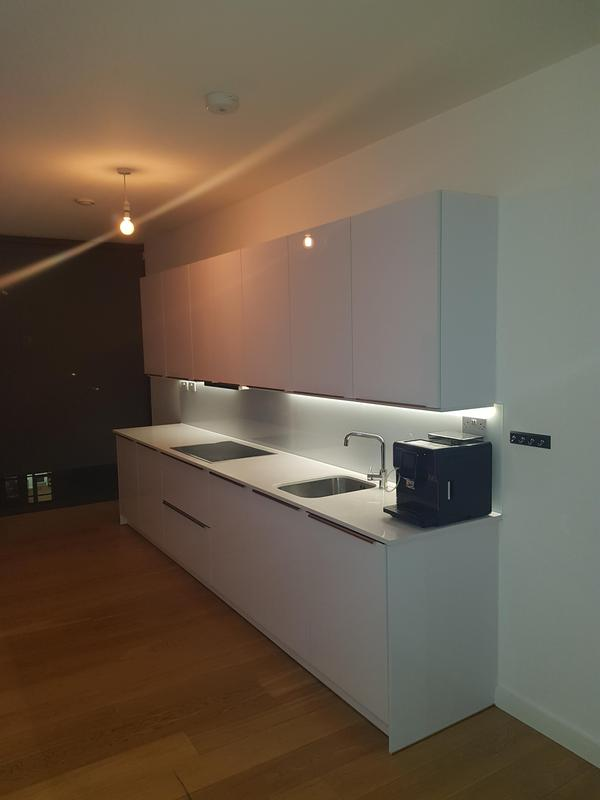 Image 7 - Dining room turned into a kitchen.