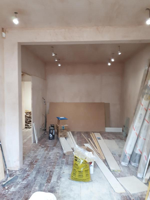 Image 67 - Plastering work carried out in Fulham, close to the Fulham football stadium. The gentleman had two rooms fully boarded and plastered. One large wall and ceiling boarded and plastered from the front door up to the first floor. Client was very happy with the outcome.