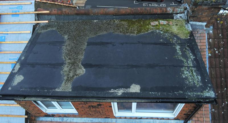 Image 12 - Old flat roof and old ridge tiles