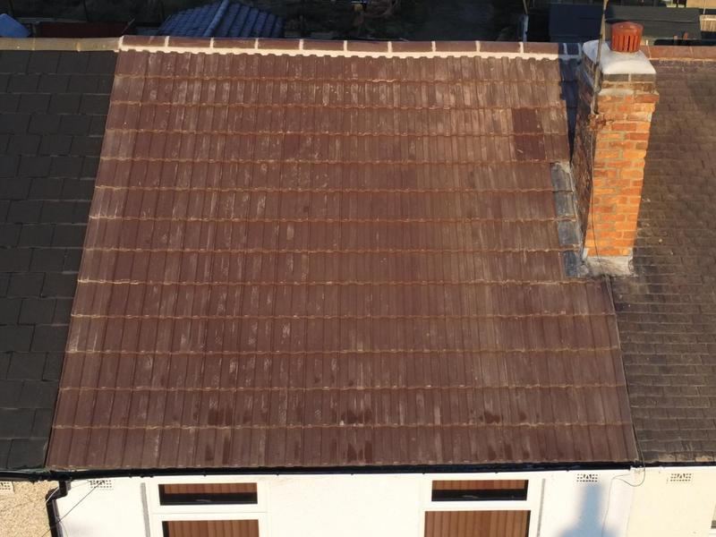 Image 3 - New breather membrane and treated batons and tiles. Ridges all bedded in and new chimney work