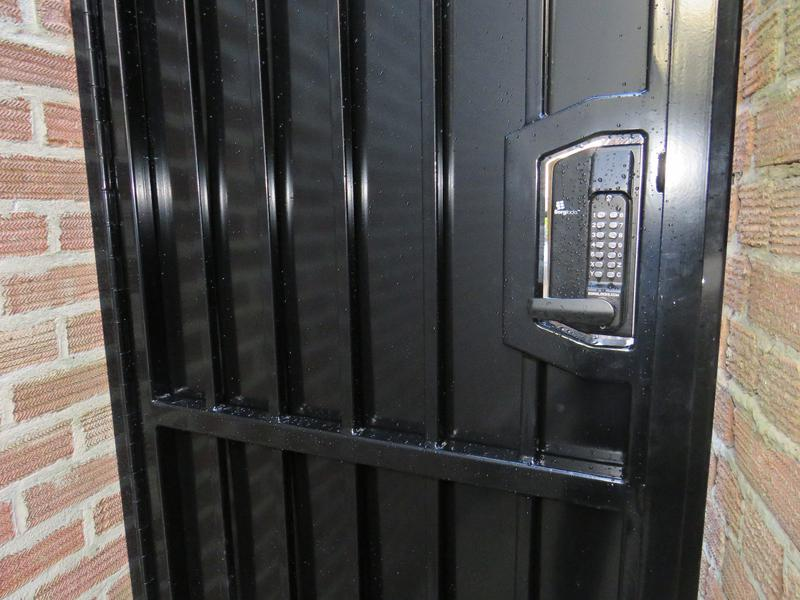 Image 166 - Bar Grille Door, Vertical Bars for Additional Strength. Powder Coated