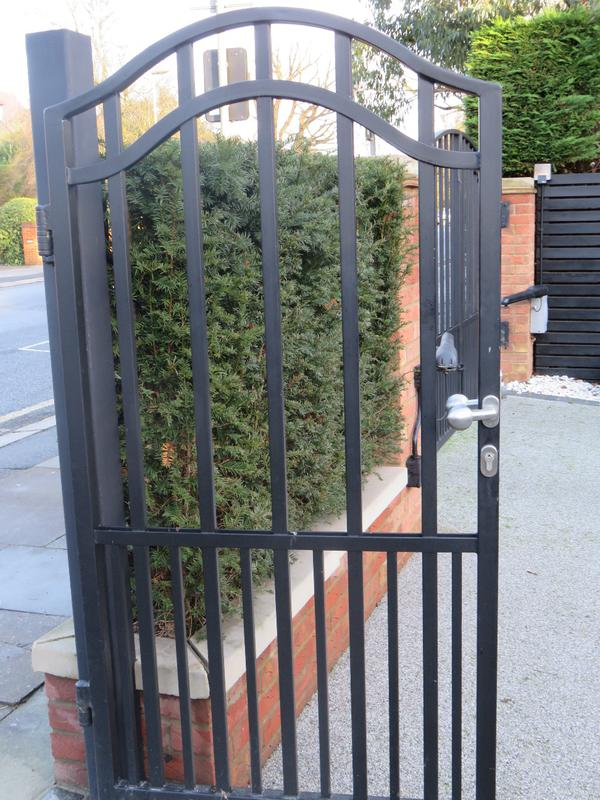 Image 233 - Arched Security Driveway Door Gate, Galvanised, Guaranteed No Rust