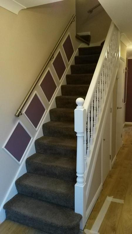 Image 110 - hall stairs and landing decorations including feature panels in worcester Park