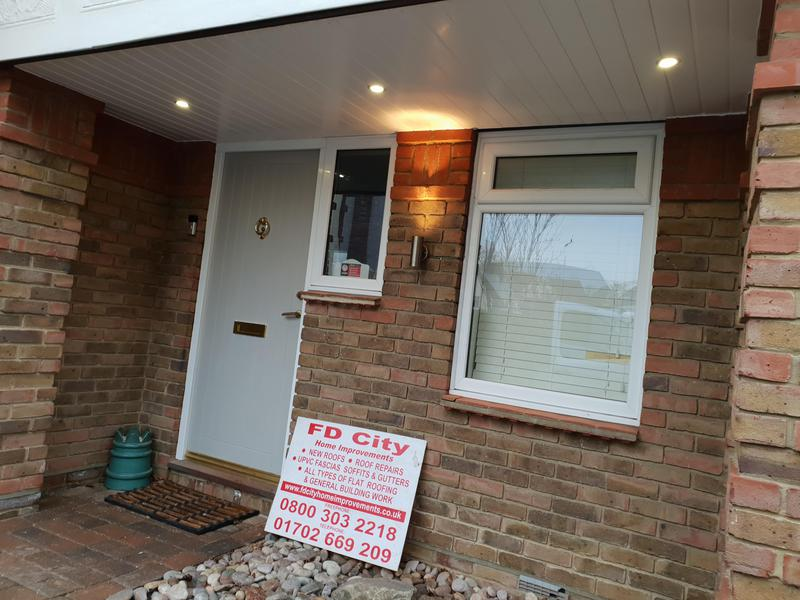 Image 60 - New upvc soffit installation with spotlights installed